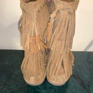Minnetonka Fringed Boots
